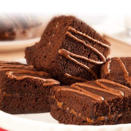 Brownie chocolate y Arequipe. Panadería kosher certificada en Bogotá
