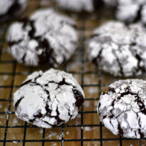 Galletas Crinkles de chocolate